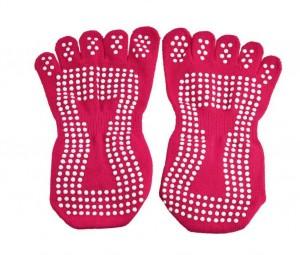 anti slip piloxing pilates sokken roze onderkant