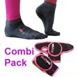 combi pack handschoenen sokken grijs
