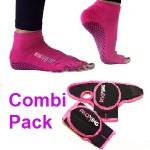 combi pack handschoenen sokken roze