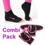 combi pack handschoenen sokken zwart